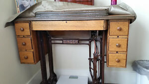 Antique Refinished Singer Treadle Sewing Machine
