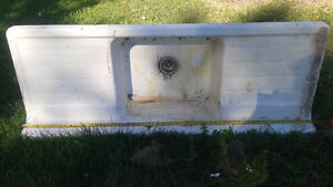 Vintage antique cast iron sink