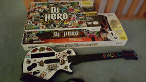 Guitar Hero 3, DJ Hero for Wii, with guitar and turntable
