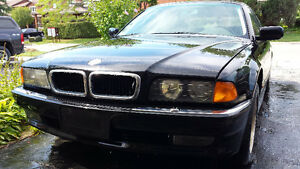 1997 BMW 740iL Black over Black as is
