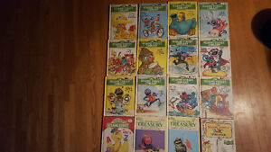 Lot of 12 Vintage Sesame Street Library Books plus 4 random