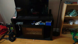 Classy TV Stand with Remote Faux Fire/ Heater
