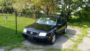 2002 Volkswagen Jetta GLS Sedan with 4 Snow Tires on Rims