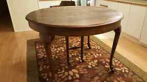 Antique Queen Anne dining room table