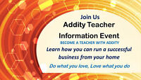 Be an Addity teacher. Make a difference and money$$ from home