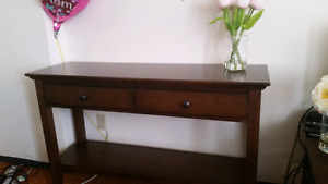 Console behind door table looks like new