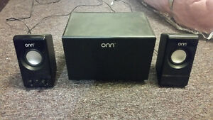 Onn speakers and mini sub