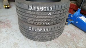 Pair of 2 Michelin Primacy MXM4 215/50R17 tires (80% tread life)
