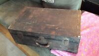 Antique trunk suitcase