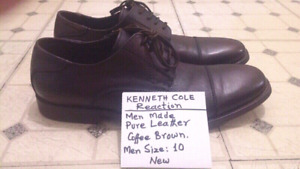 Man Made Kenneth Cole Reaction. Leather. Size:10 & 12 New Cond