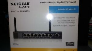Netgear Prosafe 8 Port Gigabit Wi-Fi Router - New in the box!