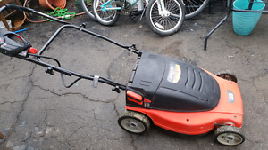 Electric lawn mower  (cordless) and weed whacker