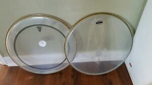TWO 20'' Bass drum heads Hardly used.. GREAT SHAPE