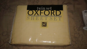 New!  Cotton Oxford twin sheet sets!