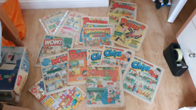 Whoopee, Wow, Buster, Chips, school fun, daily mail Comics 17 Issues F