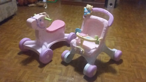 Trotteur et cheval Fisher Price