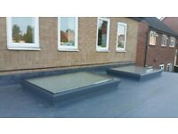 Flat glass Roof panels with blue active self cleaning glass