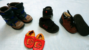 Toddler Boy Multiple Shoes, Boots, Sandals, Sneakers; see pic