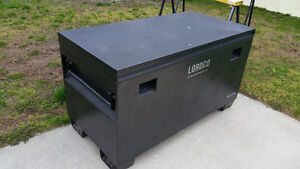 Large lordco metal back of truck tool box