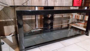 GLASS TABLE TV STAND LIVING ROOM TABLE / Meuble Table en Verre