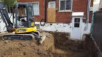 Service Mini excavation-