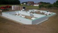 ICF foundations, slabs, and screw piles