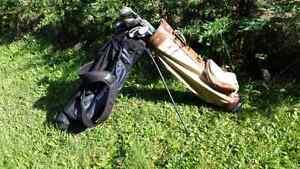 Free golf bag + clubs