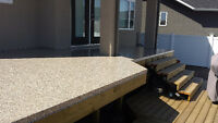 Deck membrane, deck construction, deck coating, concrete repair