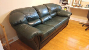 Genuine Rawhide Leather Couch & Loveseat