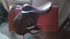 "16"" leather saddle"
