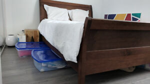 Solid Wooden Bed Frame - Queen Size