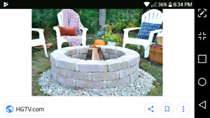 Bricks for fire pit