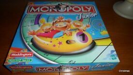 Jubior Monopoly and Junior Scrabble - both games complete and new condition