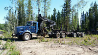 1990 Kenworth Self Loader Logging Truck