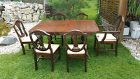 Duncan Phyfe Dining Room Suite (Table w/leaf and 6 chairs)