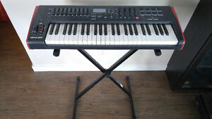 Novation Impulse 49 midi controller with stand