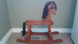 New Hand Made Child's Wooden Rocking Horse