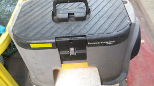 step tool box with extandable power cord