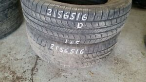 Pair of 2 General Alimax RT43 215/65R16 tires (50% tread life)