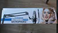 BM-800 Condenser Microphone with Scissor Arm Stand and Wind Scre