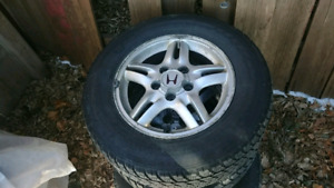 4 all season tires on CRV rims