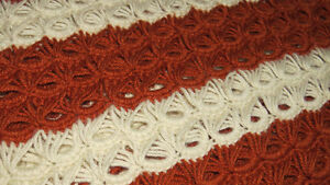 Hand Made Crocheted Lacy Afghan Throw Comox / Courtenay / Cumberland Comox Valley Area image 2