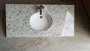 Granite Countertop with Undermount sink and Faucet