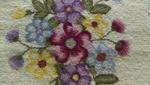 ** NEW PRICE ** HandMade Hooked Rug ~~ Rare Piece on Sale