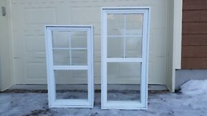 2 fenêtres guillotine PVC chassis window