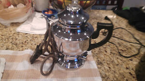 Electric tea coffee water pot stainless steel.