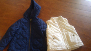 Toddler Gap vest and Old Navy coat like new