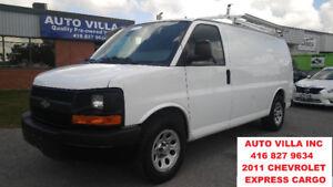 2011 Chevrolet Express G1500 CARGO VAN, SHELVES, DIVIDER & RACK