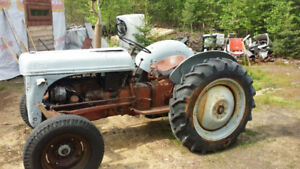 1942 Ford NZ Tractor and 1944 Ferguson tractor with front loader