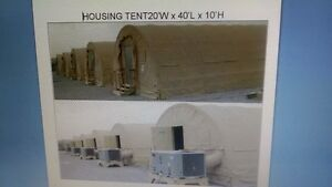 New in crate military tent storage housing units